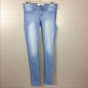 Hollister Light Wash Factory Faded Skinny Jeans